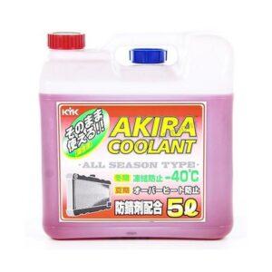 Akira Coolant -40 Антифриз красный всесезонный готовый 5л арт. 55-005