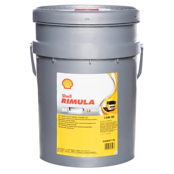 Shell Rimula R4 L 15W40 CJ-4 20л арт. 550047176