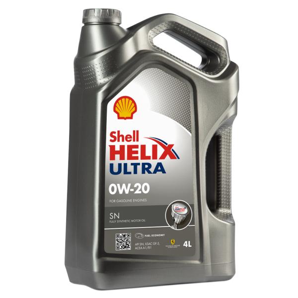 Shell Helix Ultra 0W20 синтетическое моторное масло 4л арт. 550046977