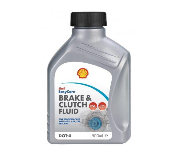 Shell Тормозная жидкость DOT-4 Brake and clutch 0.5л арт. 12008