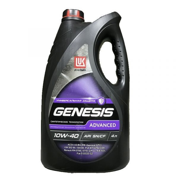 Лукойл Genesis Advansed п/синт 10w40 4л арт. 1632650