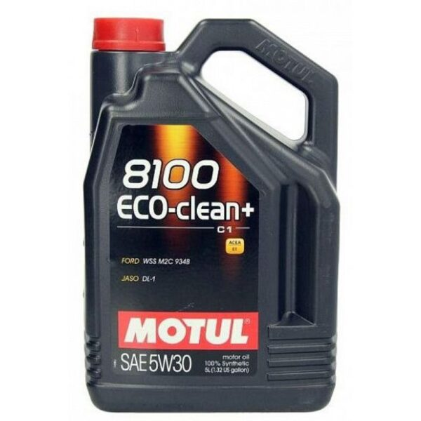 Motul Авто 8100 Eco-clean+ C1 5W30 5 л. (4) - масло моторное, шт арт. 101584