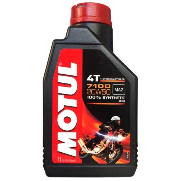 Motul Мото 7100 4T 20W50 1 л. (12) - масло моторное, шт арт. 104103