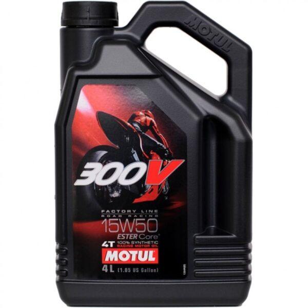 Motul Мото 300V 4T FL Road Racing 15W50 4 л. (4) - масло моторное, шт арт. 104129