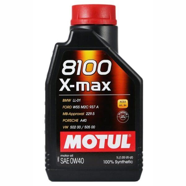 Motul Авто 8100 X-max 0W40 1 л. (12) - масло моторное, шт арт. 104531