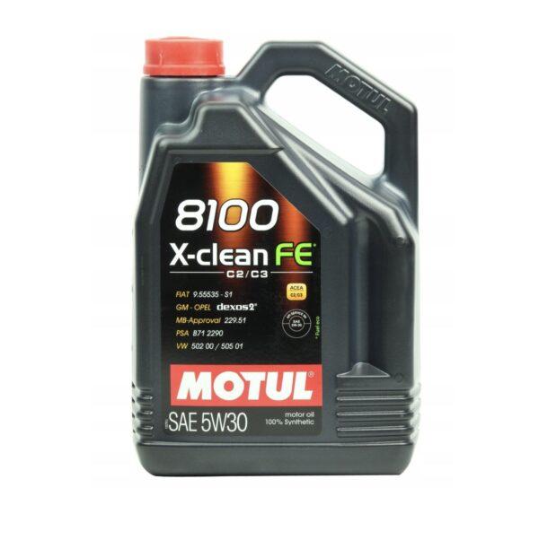 Motul Авто 8100 X-clean FE 5W30 4 л. (4) - масло моторное, шт арт. 104776