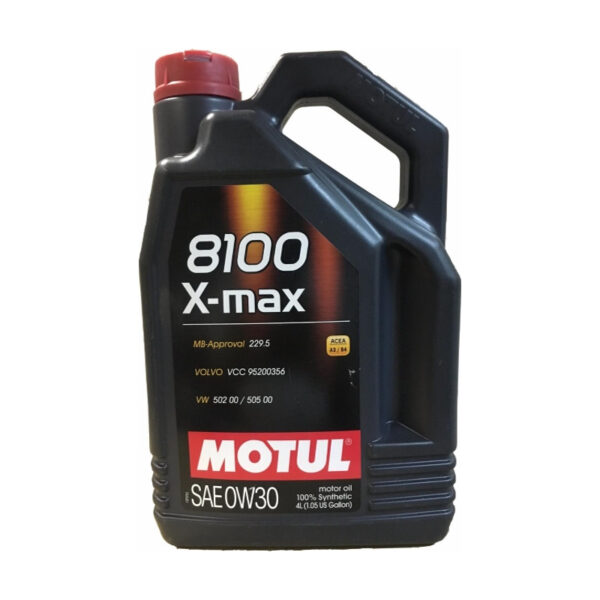 Motul Авто 8100 X-max 0W30 4 л. (4) - масло моторное, шт арт. 106601