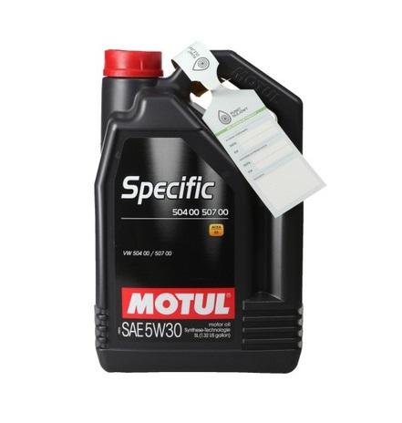 Motul Авто Specific 504 00/507 00 0W30 5 л. (4) - масло моторное, шт арт. 107050