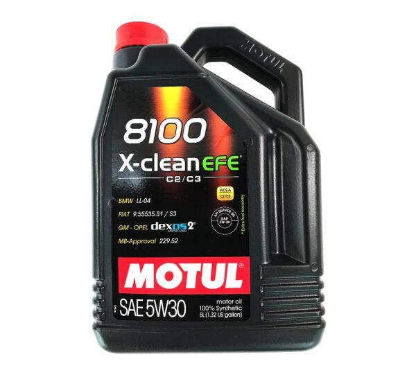 Motul Авто 8100 X-clean EFE 5W30 5 л. (4) - масло моторное, шт арт. 107206