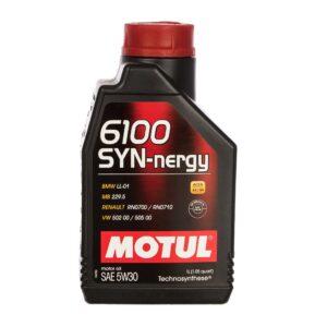 Motul Авто 6100 SYN-NERGY 5W30 1 л. (12) - масло моторное, шт арт. 107970