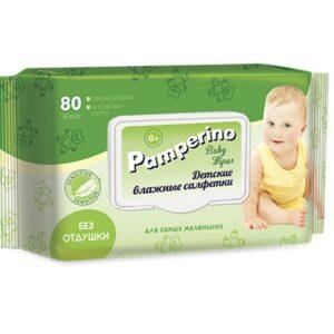 Cалфетки Pamperino №80 влажные детские с пластик. клапаном 15308 (20шт/кор) арт. 15308