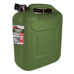 Канистра для топлива в комплекте с крышкой и лейкой ОЛИВКОВАЯ 20л 3TON арт. 55332