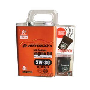 AUTOBACS FS 5W30 SN GF-5 (4л) AB AUG CHAO LATTE AROMA (140мл) -(комплект) арт. A01508401-530CHL