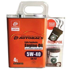 AUTOBACS ENGINE OIL FS 5W40 SN GF (4л) AB AUG CHAO LATTE AROMA (140мл) -(комплект) арт. A01508404-540CHL