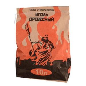 Уголь древесный березовый ЧИНГИСХАН 10 литров арт. CHH10
