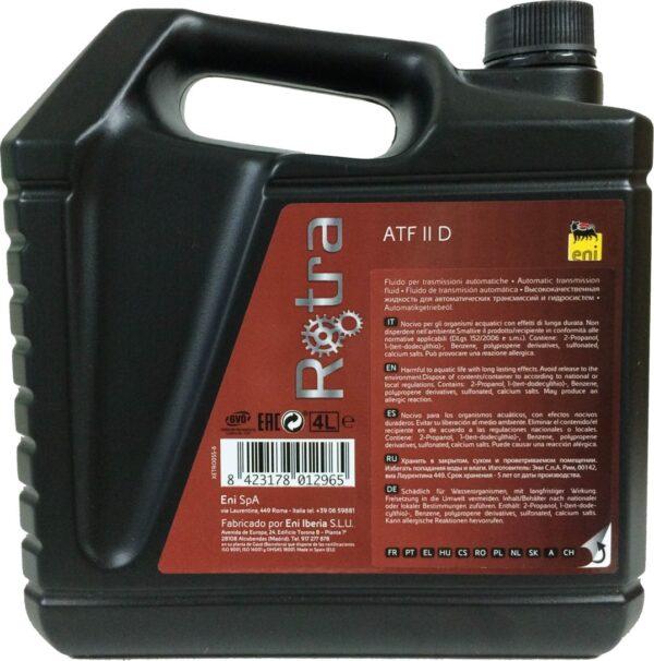 Масло ENI Rotra ATF II D 4л минеральное (6шт/кор) арт. ENIROTRAATFII4
