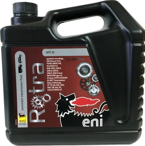 Масло ENI Rotra ATF III 4л полусинтетика (6шт/кор) арт. ENIROTRAATFIII4
