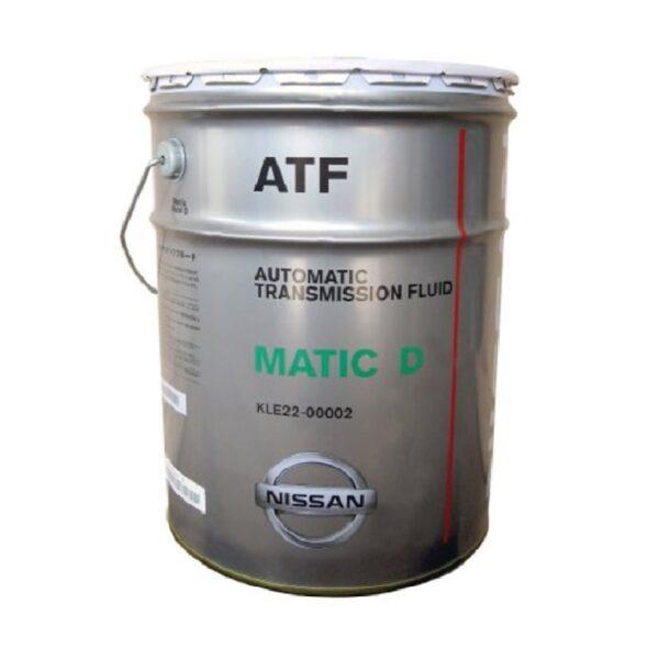 NISSAN ATF D 20л (Оригинальная жидкость для автоматических коробок передач) арт. KLE22-00002