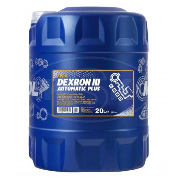Масло MANNOL DEXRON III синтетическое 20л арт. MN-1389