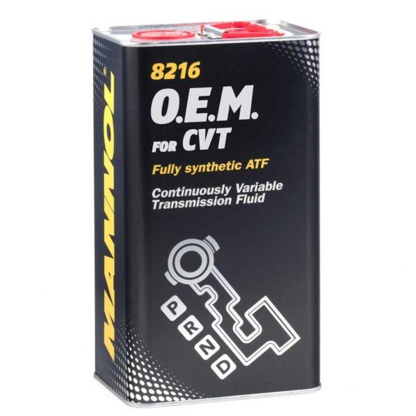 Масло MANNOL ATF O.E.M for CVT трансм.вариаторное 3066 МЕТАЛЛ 4л (4шт/кор) арт. MN-3066
