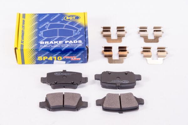 Тормозные колодки (комп.4шт) SP410 MERCEDES-BENS A-CLASS (W169), MERCEDES-BENS B-CLASS (W245) SCT арт. SP410