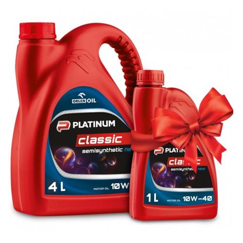 АКЦИЯ ORLEN OIL п/с.мот.масло PLATINUM CLASSIC SEMISYNTHETIC 10W-40 CF/SJ/SL A3/B3 4л+1л (4шт/кор) арт. QFS412B40