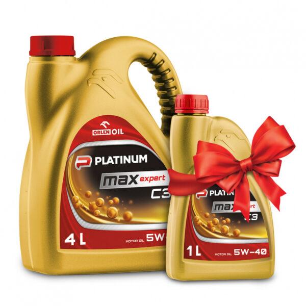 АКЦИЯ ORLEN OIL мот.масло PLATINUM MAXEXPERT C3 5W-40 CF/SM/SN C3 4л+1л (4шт/кор) арт. QFS430B40